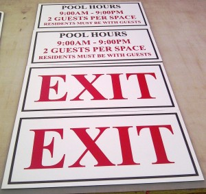 Parking Sign - Exit