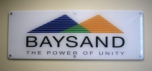 Full color graphics on second surface of sign
