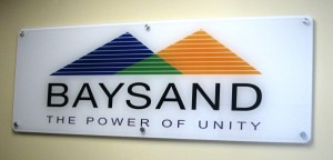 Acrylic Lobby Sign with Second Surface Digital Print
