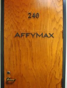 Custom anodized office door sign