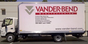 Truck Graphic with Custom Color Logo