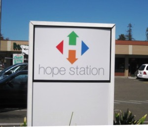 New logo - New signs for Hope Services