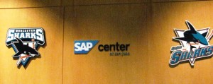 Custom lobby sign with the new SAP logo