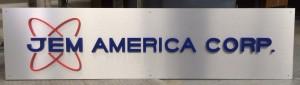 Lobby logo sign - custom cut letters on aluminum panel