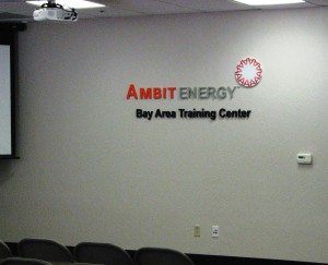 Lobby Sign For New Training Center - Ambit