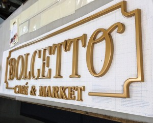 New Custom Logo Sign for Dolcetto Cafe - Formed Plastic Letters
