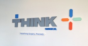Think Surgical New Lobby Sign - Custom Cut and Painted Gator Foam