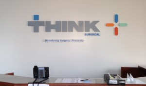 New Custom Lobby Sign for Think Surgical (Robodoc)