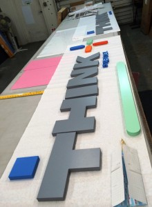 Letter Sign In Production
