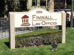 Dimensional Lettering for Law Firm - Finwall Law