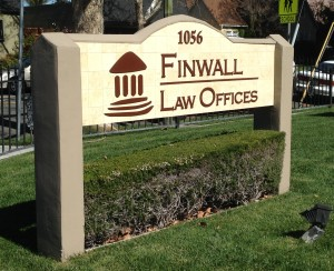 Custom lettering and logo for Finwall Law