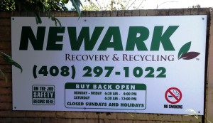 New Property Signs with updated logo and contents For Newark Recycle