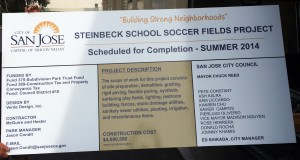 Steinbeck Soccer Field Project Sign