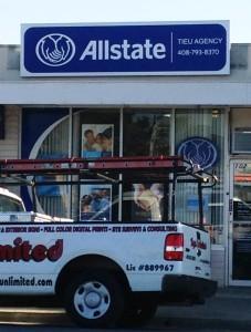 Updated Logo sign for Allstate
