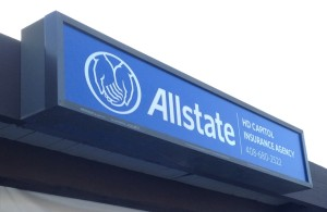 Cabinet Sign with New Allstate Logo