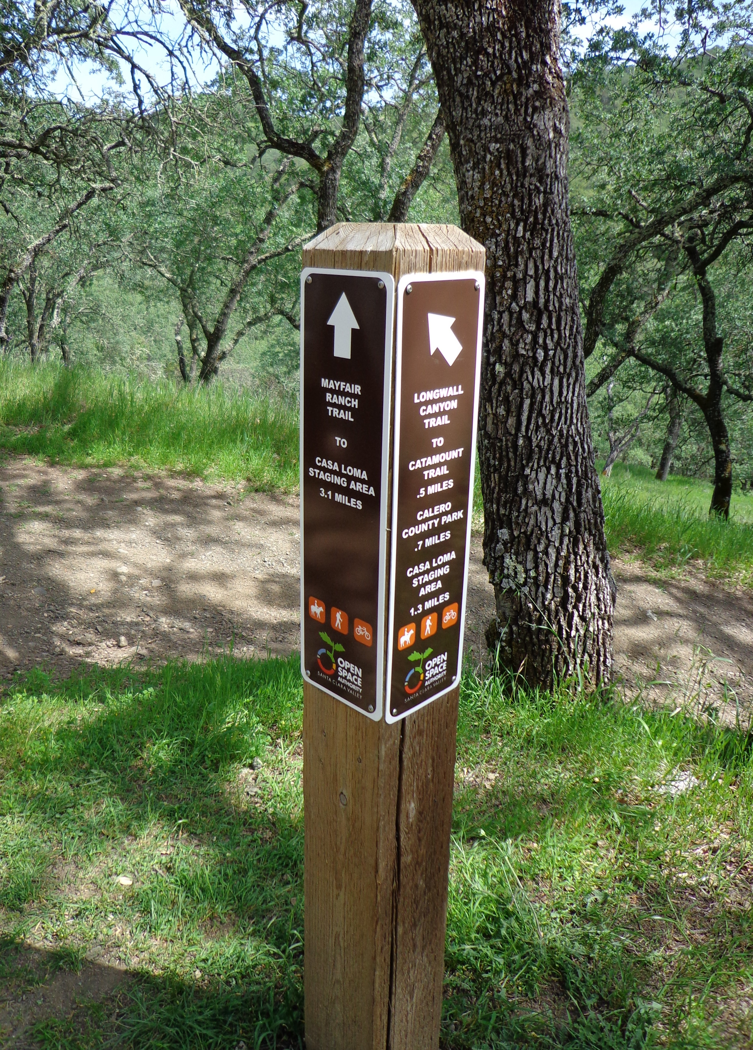 open space trail signs