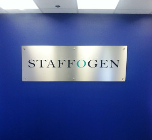 New High-end looking lobby sign for Staffogen
