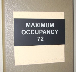 Typical Max Occupancy Sign - Paseo Villas