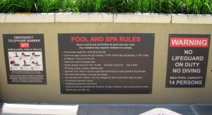 Paseo Villa Pool Signs