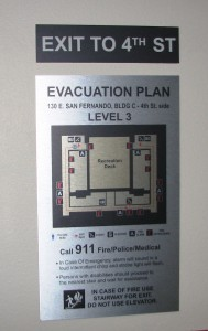Evacuation Map - Paseo Villas - San Jose