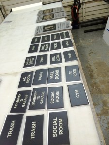 Signs In Production - Paseo Villas
