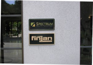 Entry plaques for Finjan and Spectrum