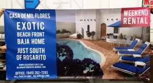 Digitally Printed Banner - Baja Rentals