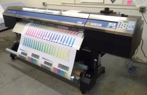 Wide format full color digital printer