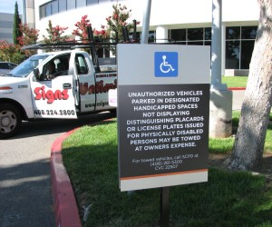 Parking restriction sign - Marvell Campus