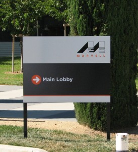Marvell Campus sign - Post and Panel