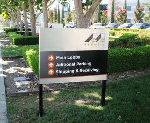 Directional Campus sign - Marvell