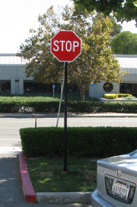 Campus stop sign - Marvell