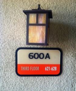 Custom ADA Room ID sign - Dinah's Hotel