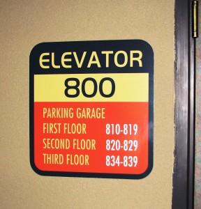 Elevator ID sign - Dinha's