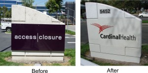 Before and After photo - Cardinal Health Monument