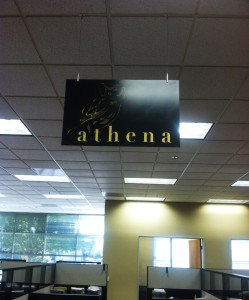 Area Marker Sign with decorative mounting hardware