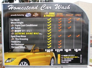 New Menu - New Look - Homestead Car Wash