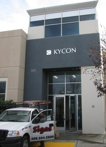 Brushed Aluminum Laminated PVC Sign - Kycon