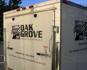 Contour Cut Single Color Trailer Graphics - Oak Grove School District