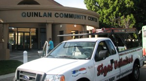 New Sign Installed - Cupertino Quinlan Community Center