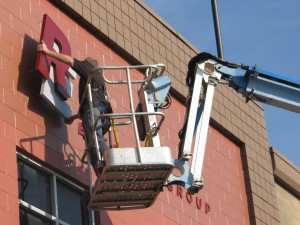 Building Sign Installation - Redwood Electric