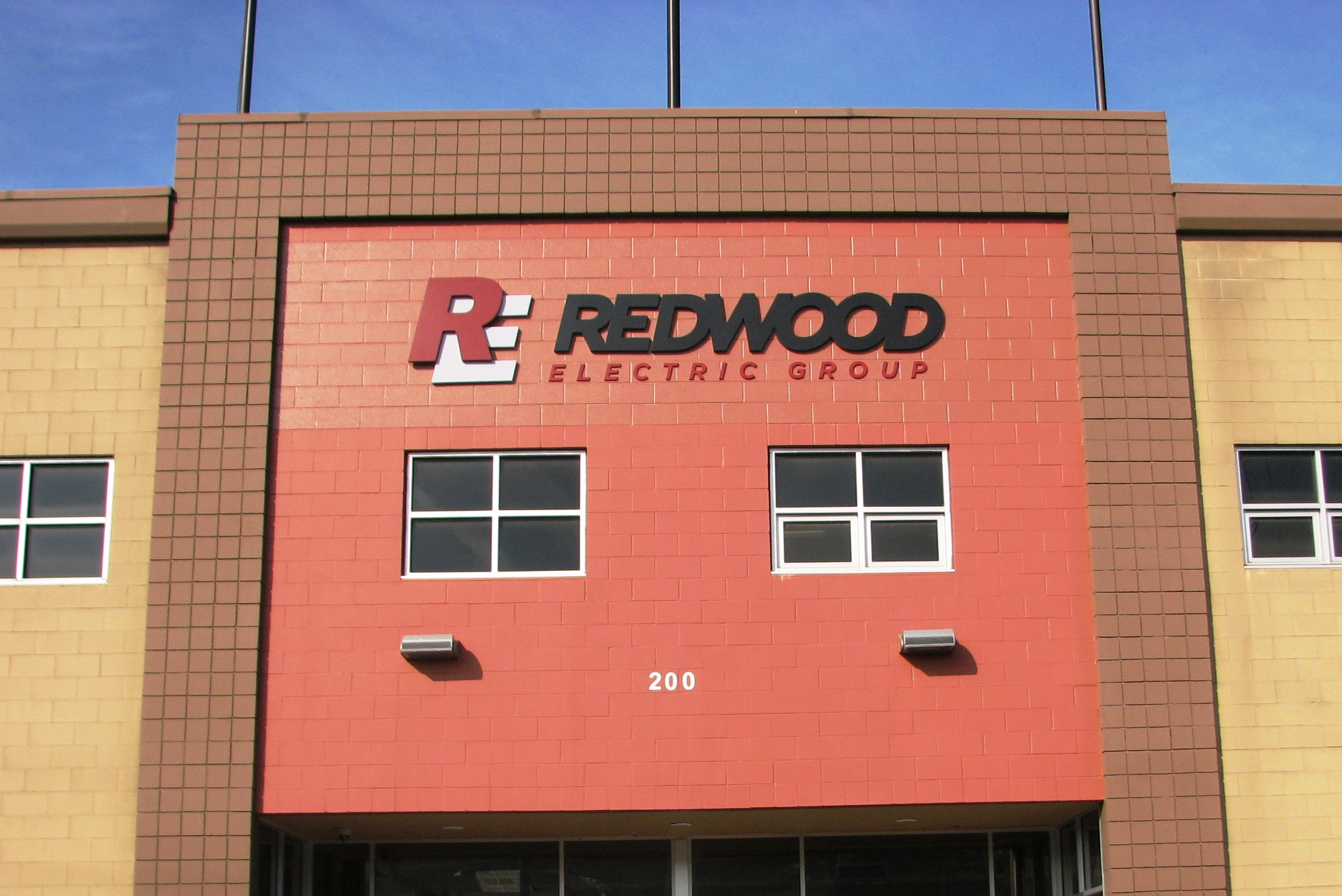 New Building Sign Redwood Electric