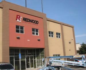 Custom Aluminum Building Letter Sign - Redwood Electric