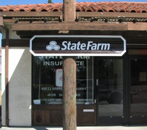Suite sign with a new logo - State Farm
