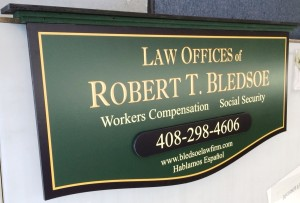 Layered Custom Sign - Robert Bledsoe Law