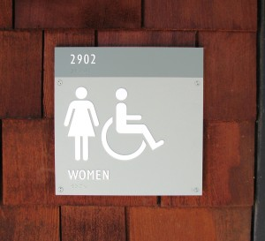 Custom ADA Restroom sign - Foothill College