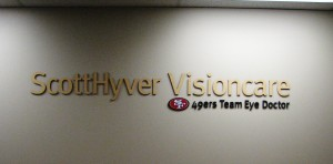 49ers Team Eye Doctor - Custom Lobby Sign - ScottHyver Vision