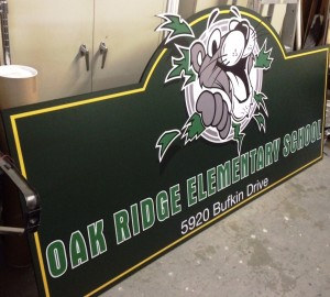 Custom MDO School Sign - Oak Ridge Elementary