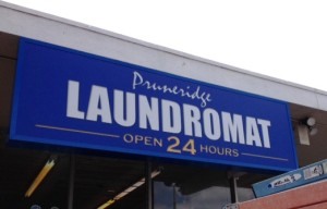 LED Illuminated Cabinet Sign - Laundromat
