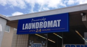 Illuminated Cabinet Sign - Laundromat